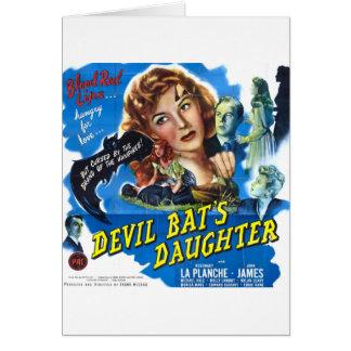 Devil Bat's Daughter, vintage horror movie poster Card