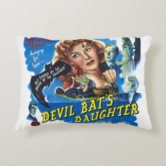Devil Bat's Daughter, vintage horror movie poster Decorative Pillow