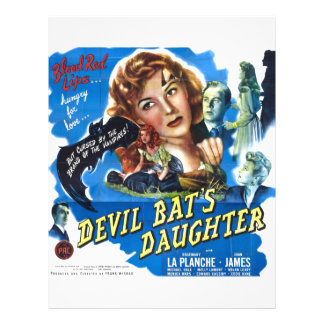 Devil Bat's Daughter, vintage horror movie poster Letterhead