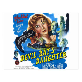 Devil Bat's Daughter, vintage horror movie poster Postcard