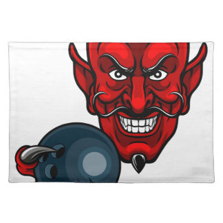 Devil Bowling Sports Mascot Placemat