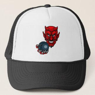 Devil Bowling Sports Mascot Trucker Hat