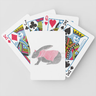 Devil Bunny Bicycle Playing Cards