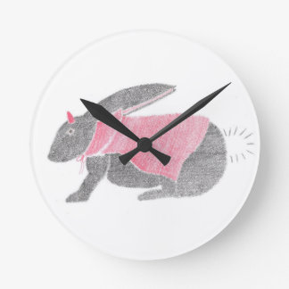 Devil Bunny Round Clock