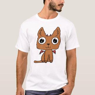 Devil Cat Hand-drawn Cartoon Cute T-Shirt