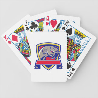 Devil Catfish Head Shield Retro Bicycle Playing Cards