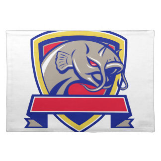 Devil Catfish Head Shield Retro Placemat