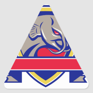 Devil Catfish Head Shield Retro Triangle Sticker
