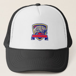 Devil Catfish Head Shield Retro Trucker Hat