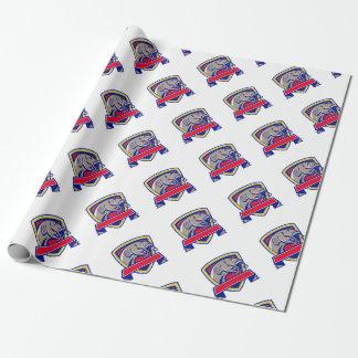 Devil Catfish Head Shield Retro Wrapping Paper