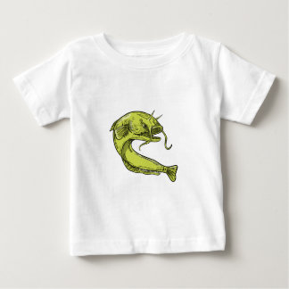 Devil Catfish Jumping Drawing Baby T-Shirt