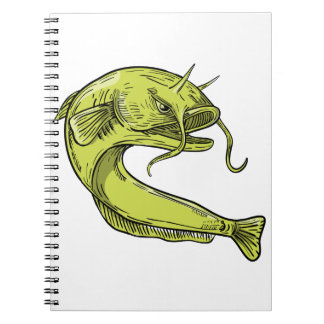 Devil Catfish Jumping Drawing Notebook