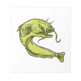Devil Catfish Jumping Drawing Notepad