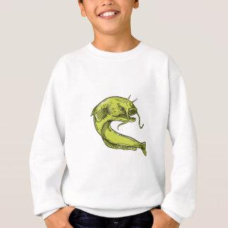 Devil Catfish Jumping Drawing Sweatshirt