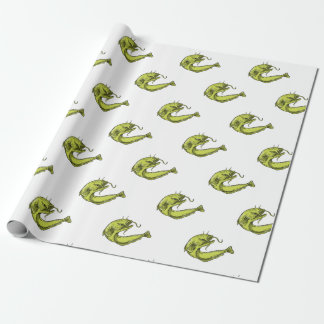 Devil Catfish Jumping Drawing Wrapping Paper