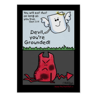 Devil Character Grounded-Devil and Angel Poster