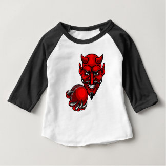 Devil Cricket Sports Mascot Baby T-Shirt