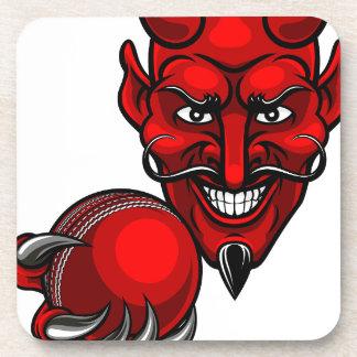 Devil Cricket Sports Mascot Coaster
