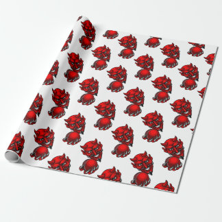 Devil Cricket Sports Mascot Wrapping Paper
