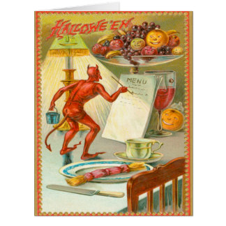 Devil Demon Fruit Lamp Menu Card