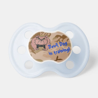 Devil Dog in training -  Infant Boy Pacifier