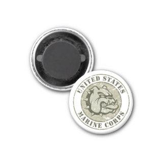 Devil Dog Vintage Emblem 1 Inch Round Magnet