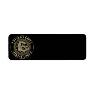 Devil Dog Vintage Emblem Return Address Label