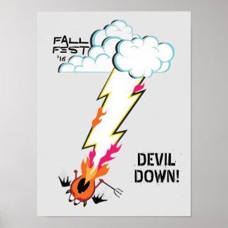 DEVIL DOWN! Fall Fest Poster