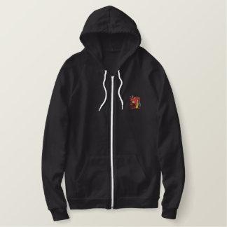 Devil Embroidered Hoodie