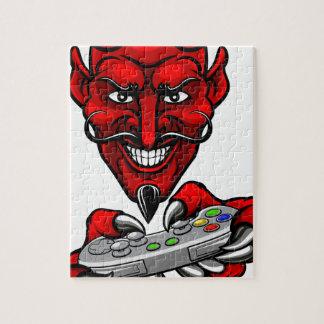 Devil Esports Sports Gamer Mascot Jigsaw Puzzle