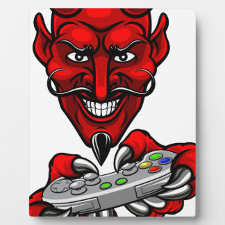 Devil Esports Sports Gamer Mascot Plaque