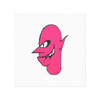Devil Face Character Illustration Canvas Print