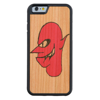 Devil Face Character Illustration Carved Cherry iPhone 6 Bumper Case
