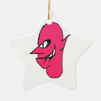Devil Face Character Illustration Ceramic Ornament
