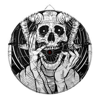 devil face dartboard