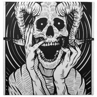 devil face napkin