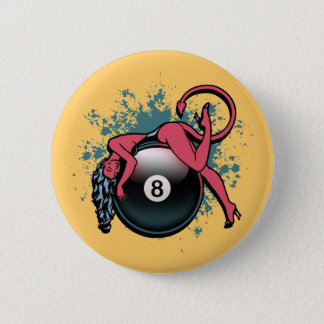 Devil Girl 8-Ball 2 Inch Round Button