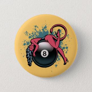 Devil Girl 8-Ball 2 Inch Round Button