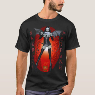 DEVIL GIRL GOTH SUCCUBUS GOETIA PAGAN WITCH NUN T-Shirt