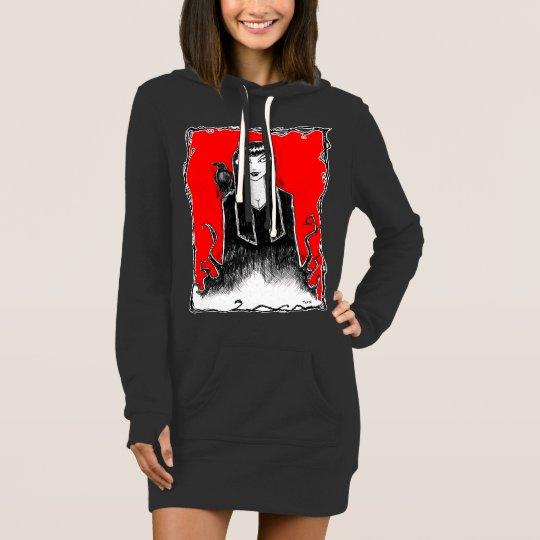 Devil Girl w Raven Hoodie Dress