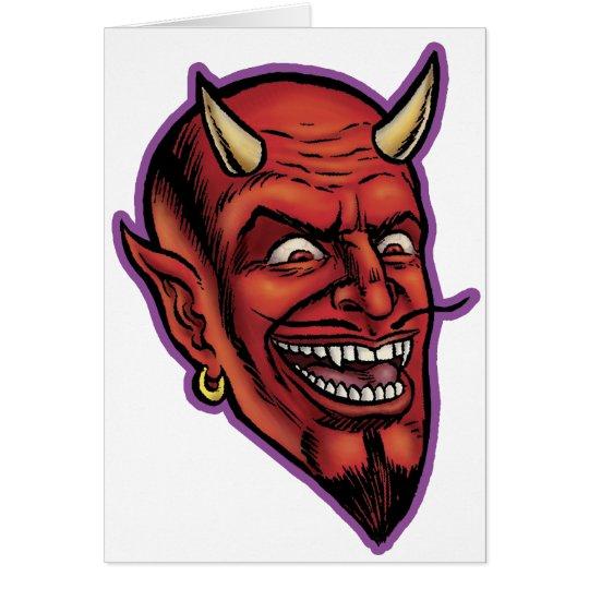 DEVIL HEAD GREETING CARD