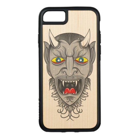 Devil Illustration Carved iPhone 7 Case