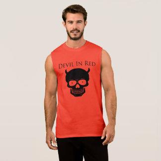 Devil In Red Apparel Sleeveless Shirt
