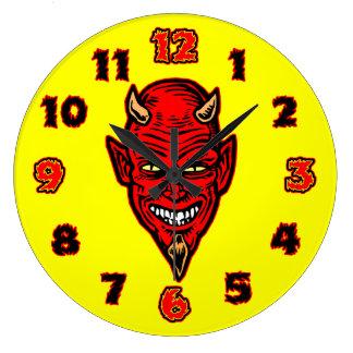 Devil Large Clock