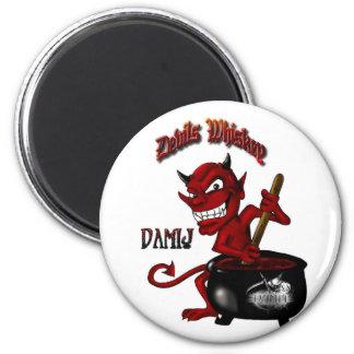 Devil LARGE w-Reaper LOGO - BUTTON Magnet