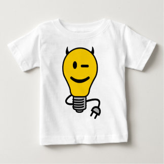 Devil Lightbulb with plug tail Baby T-Shirt