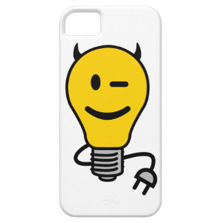 Devil Lightbulb with plug tail iPhone 5 Cases