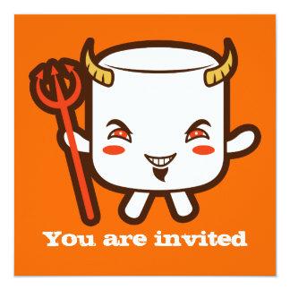 """Devil Marshmallow 5.25"""" Square Invitation Card"""