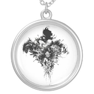 Devil May Care Round Pendant Necklace