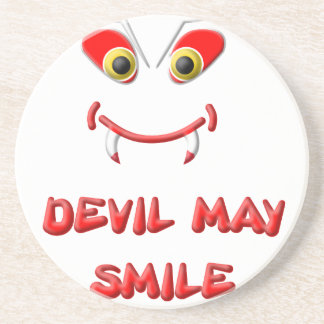 DEVIL MAY SMILE 2.png Beverage Coasters